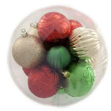 holiday time red green and white shatterproof christmas ornaments
