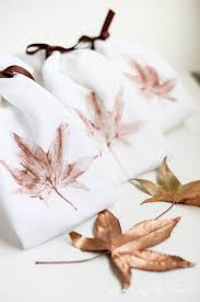 home decor diy fall ideas the 36th avenue diy leaves stamped kitchen towels placeofmytaste com