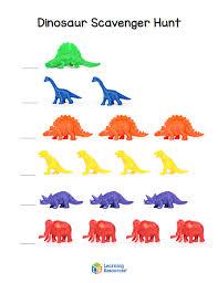 dinosaur hunter printable dino sheets learning