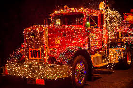 big rig with christmas lights photograph by garry