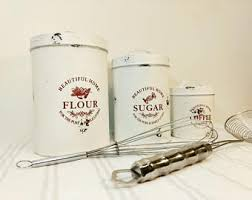 kitchen flour canisters kitchen canisters etsy