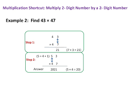 multiplication shortcut multiply two 2 digit numbers