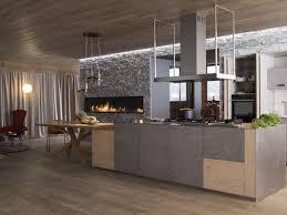 perene cuisines contemporary kitchen oak wood veneer island puissance des