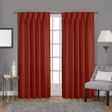 Burnt Orange Curtains And Drapes Modern Orange Curtains Drapes Allmodern