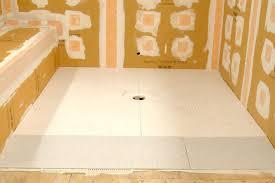 schluter kerdi shower sr prefabricated substrates shower