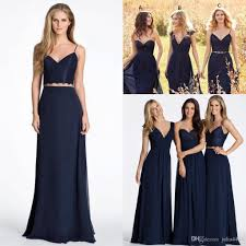 new cheap bridesmaid dresses 2017 bohemian for weddings navy blue