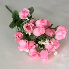 silk roses balsacircle 180 mini silk roses buds flowers 12 bushes for wedding