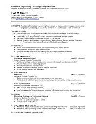 sle resume for biomedical engineer freshers jobs chemical engineering resume sle best format for engineers