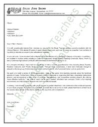 Resumes For Teachers Examples by Music Teacher Cover Letter Sample Cover Letter Sample Letter
