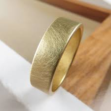 brushed gold wedding band brushed 6mm gold low profile wedding band spexton custom jewelry