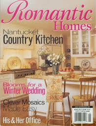 cottage style magazine romantic homes magazine cover kitchen white beadboard cottage style