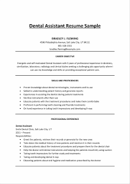 Trade Assistant Resume Prepossessing Oral Surgeon Dental Assistant Resume Also Sample
