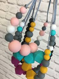 silicone bead necklace images Colourful silicone beaded necklaces to accessorise your new outfit jpg