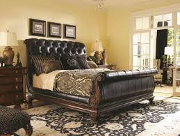 White Leather Sleigh Bed King Sleigh Bed Black Yakunina Info