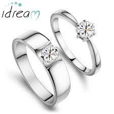 engagement rings for couples cz cubic zirconia diamond promise ring for men