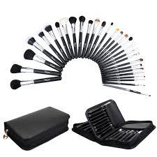 ovonni 29pcs soft goat hair makeup brush tools kit set portable