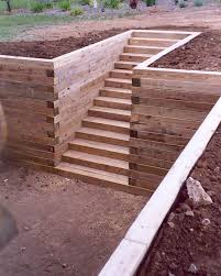 wood retaining walls with stairs timber retaining wall and