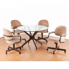 swivel tilt caster dining room sets tables u0026 chairs