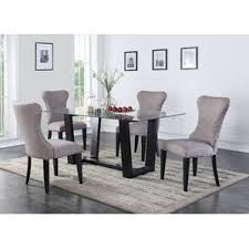 Black Dining Table White Chairs Glass Kitchen U0026 Dining Tables You U0027ll Love Wayfair