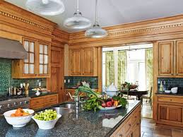 Kitchen Pine Cabinets Kitchen Cabinets With Furniture Style Flair Traditional Home