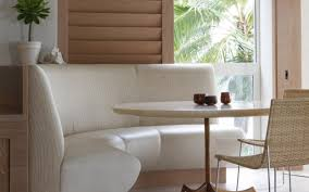 white dining bench love the idea of a high backed bench and