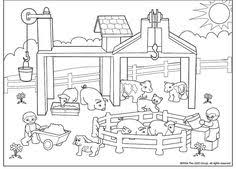Farm Coloring Page Worksheets Farming And School Farm Color Page