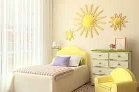 minimalist bedroom kids loft room with yellow bunk boy design in