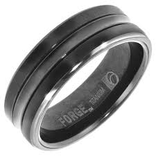 titanium mens wedding bands 15 best ideas of black titanium wedding bands for men