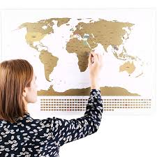 World Map With Flags Amazon Com Scratchable World Map With Flags And Bonus A4 Size