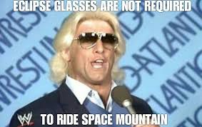 Ric Flair Memes - space mountain is too intimidating to ric flair was there
