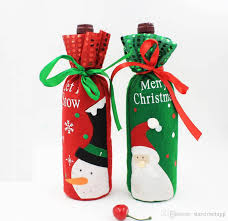 red wine bottle covers christmas table decorations articles