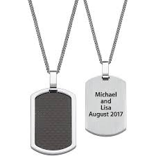 photo engraved dog tags personalized men s stainless steel and carbon fiber engraved dog