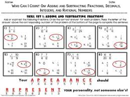 adding and subtracting rational numbers worksheets math worksheet one of the four skill sets from adding and