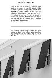 Interior Storm Window Inserts Storm Windows 101