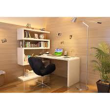 White Modern Desk by Kd02 Modern Office Desk With Shelving In White J U0026m Furniture