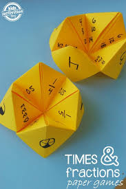 paper math games fractions and multiplication fractions math
