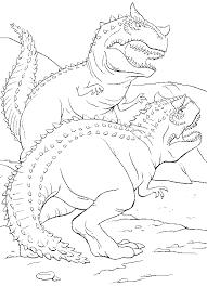 fights predatory dinosaur coloring pages dinosaur