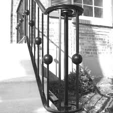 custom exterior stair railing by bader art metal u0026 fabrication