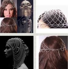 hair chains free shipping new styles women unique design chains hair