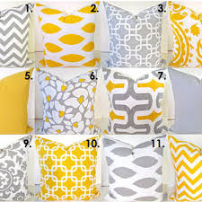 Sale Yellow Pillow Covers SELECT ANY SIZE from SayItWithPillows