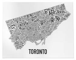 Map Of Toronto Toronto Neighbourhood Map Artwork 30