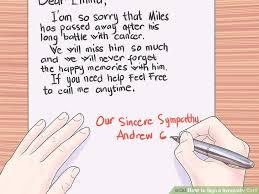 sympathy card wording 3 ways to sign a sympathy card wikihow