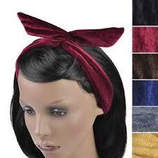velvet headband women plain velvet wire headband retro band wrap hair bendy