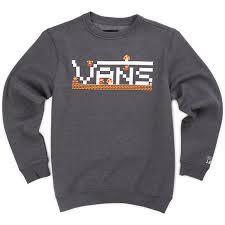 vans sweater boys nintendo mario crew sweatshirt shop at vans