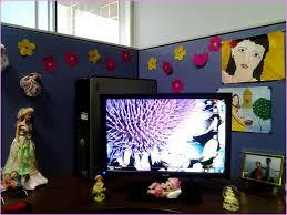 Cute Work Desk Ideas Office Cubicle Decoration Ideas Home Design Ideas
