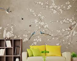 monkey wallpaper for walls chinoiserie wallpaper etsy
