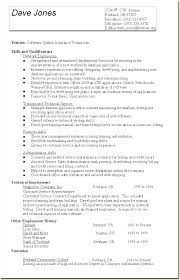 Example Technical Resume by Sample Quality Assurance Resume Examples Resume Templates