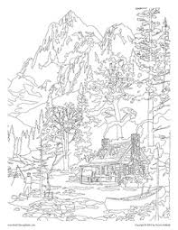 mountains coloring pages coloring books