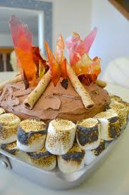 campfire camping party birthday cake tutorial surviving a