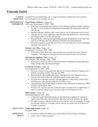 Security Job Resume Objective Resume Objective For Customer Service Representative 7 Job A 56
